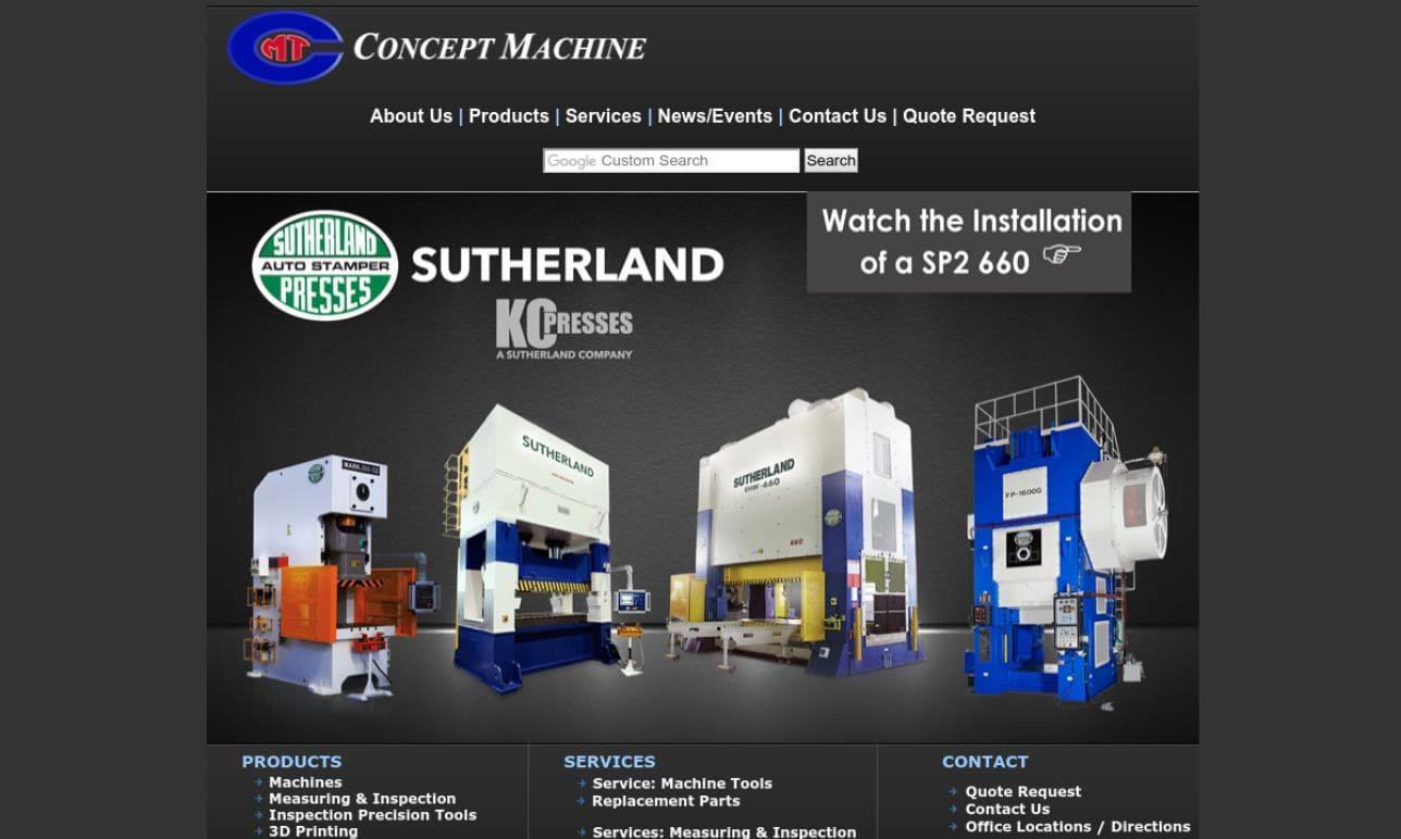 Concept Machine Tool Wisconsin