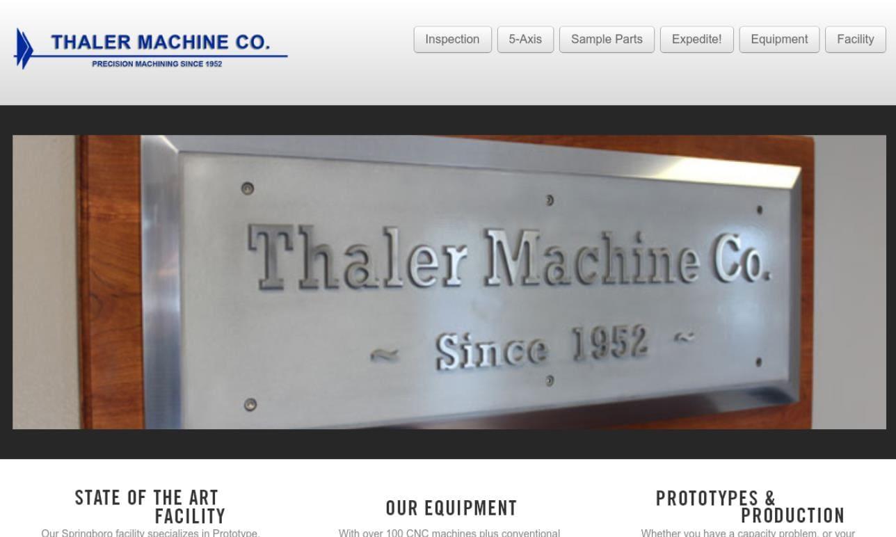 Thaler Machine Co.
